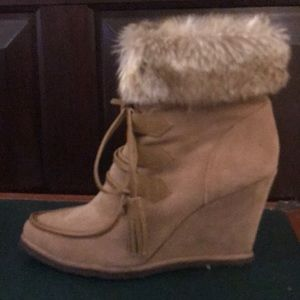Splendid Fur Wedges